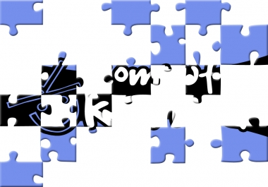 show up your message/logo in a digital jigsaw puzzle animation