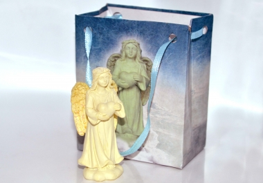 I will send you or a friend a lovely standing healing angel in a shiny gift bag with ribbon (add