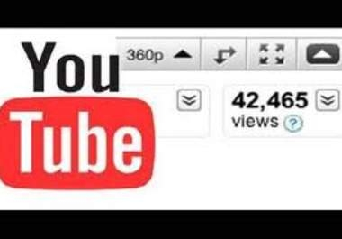 I will give you 100,000+ Safe Youtube view in just 3 day