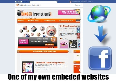 embed a website into a facebook page as a tab