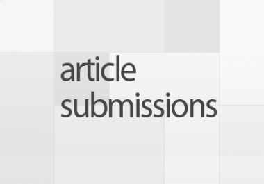 manually submit your article to 50 high pr 8 to 3 article directories detailed reporting with 30 approved articles