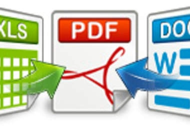 I will convert your Microsoft Word or Microsoft Excel document into PDF