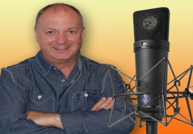 record a professional deep British voiceover - each minute