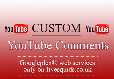 add 200 custom comments from real visitors on your YouTube video
