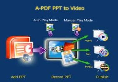 I will convert your ppt or powerpoint slides into video
