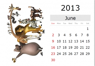 create an extremely professional calendar by using your images