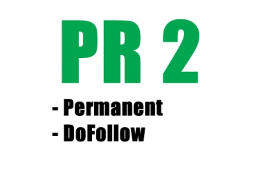 give you a REAL PR 2 DoFollow Backlink