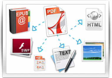 I will convert any of your documents(s) of any format into PDF or backward