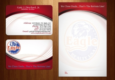 I will design you a business card and letterhead