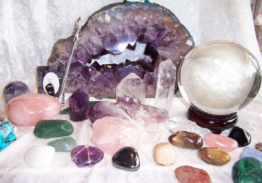 I will give you a crystal oracle reading