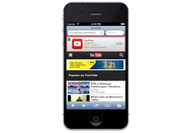 I will add SmartAppBanner to your website that'll ask vistors to download your iOS app