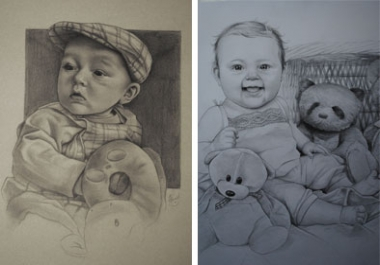 I will Draw a detailed portrait