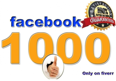 I will send 1000 face book Likes Fast delivery