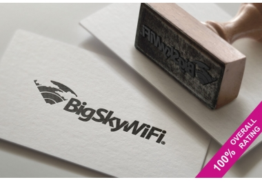 I will display your Logo or Business name in stamp and paper style