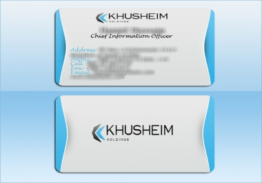I will design a bussines card