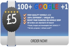 I will Get you 80++ REAL Google +1 votes to boost your site high ranking on Google search engine