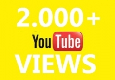 I will boost your youtube video and give you 2k++ views and 10 likes
