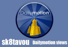 I will deliver 1000 views to your dailymotion video