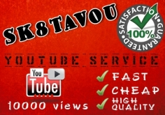 I will deliver 10000 youtube views SUPER fast
