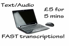 I will transcribe up to 7.5 minutes of audio/video