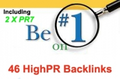 I will do Total 46 Highpr Backlinks 2xPR7 + 5Pr6 + 10Pr5 + 10Pr4 + 19Pr3 Manual Blog Comment Dofo