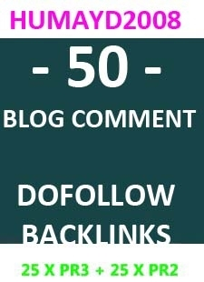 I will do 50 backlink 25xPR2 and 25xPR3 with dofollow blog comment on actual pr pages SEO