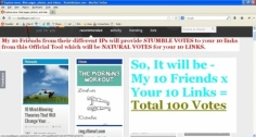 I will give 300 STUMBLE likes for your 10 links