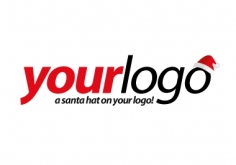 I will put a santa hat on your logo for the festive season