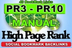 I will Manually Submit Your Website to 40 PR3 to PR10 Social bookmarking sites