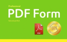 I will make fillable, interactive PDF form