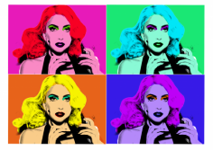 I will turn any Picture into 4 Andy Warhol pop Art
