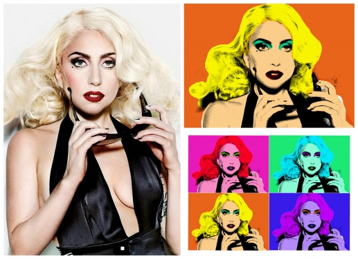 turn any Picture into 4 Andy Warhol pop Art