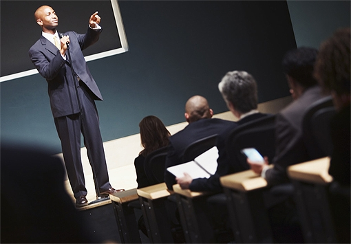 tell you how to give a great business presentation