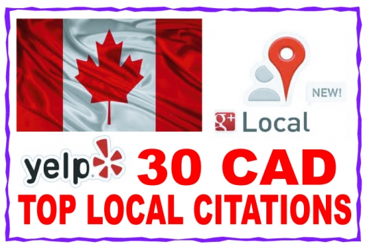 listing  your local business details to the 30 top CAD citations sites to boost your Google places