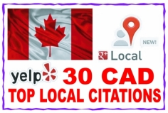 I will listing  your local business details to the 30 top CAD citations sites to boost your Googl