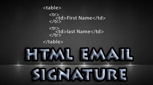 code html email signature