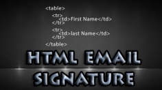 I will code html email signature