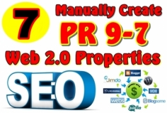 I will Manually Create 07 PR9-PR7 Web 2 0 Properties and Give you All Logins Detail With Full Rep