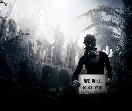 hold your Text in apocalyptic environment