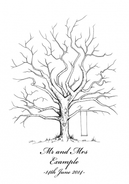 Create A Personalised Wedding Tree Illustration To Be Used
