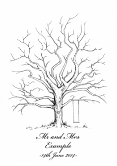 I will create a personalised Wedding Tree Illustration to be used as a guestbook for your special