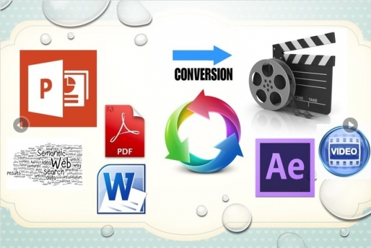 manually convert your POWERPOINT slides, Images into hd video for