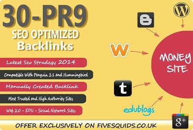 Manually Create 30 Pr9 DOFOLLOW Seo Backlinks