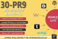 I will Manually Create 30 Pr9 DOFOLLOW Seo Backlinks