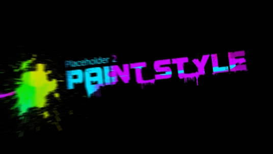 create this SPLATTERING Paint Style Video Intro Animation