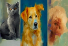 I will draw a portrait of your pet