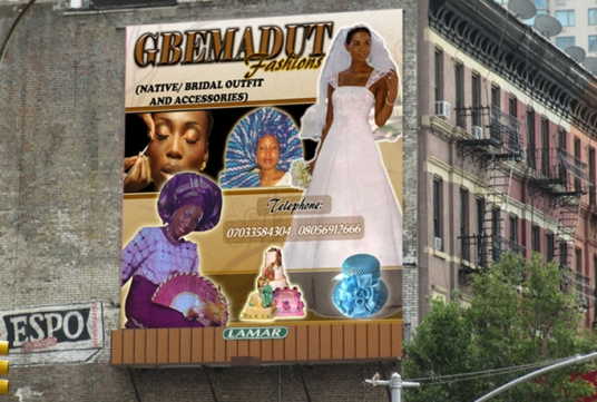 design billboard for your products and services