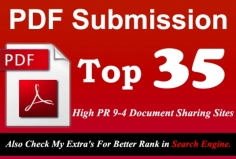 I will Manually Submit your Any Article in pdf Submission to Top 35 High PR 9 to 4 doc Sharing si