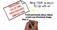 I will develop a professional whiteboard animation video