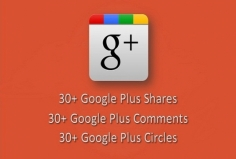 I will boost your Google+ Post, Picture or Video with 30+ Comments, Shares and Circles